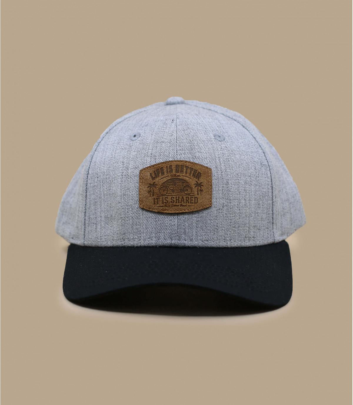 casquette tandem grise noire
