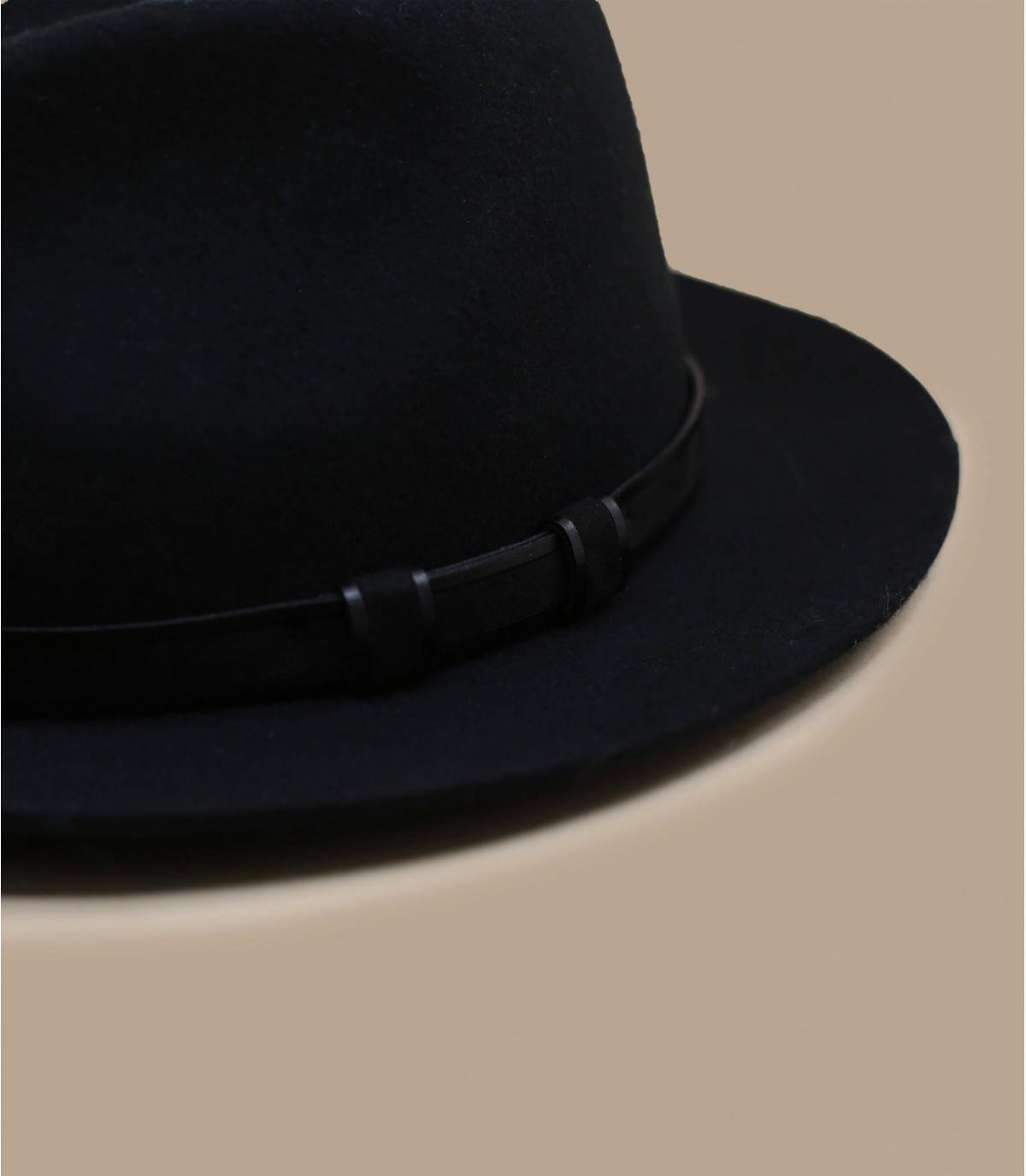 fédora noir laine