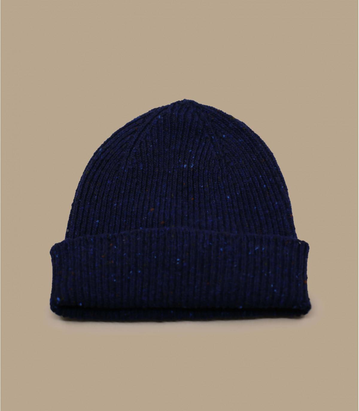 bonnet docker laine bleu