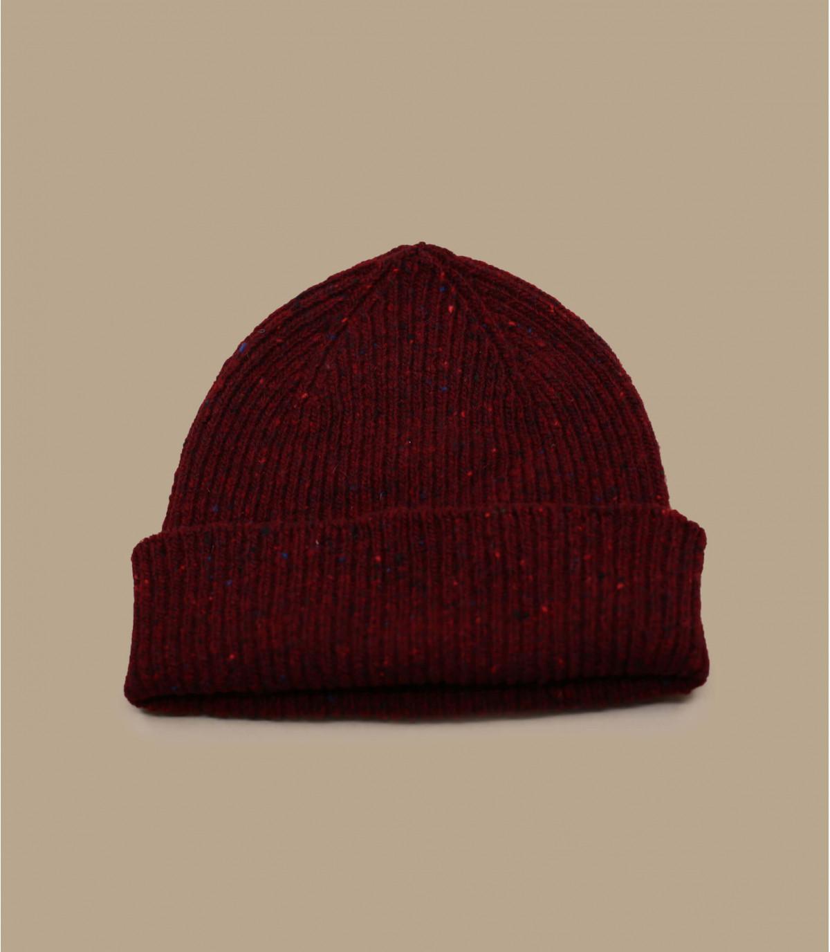 bonnet docker bordeaux laine