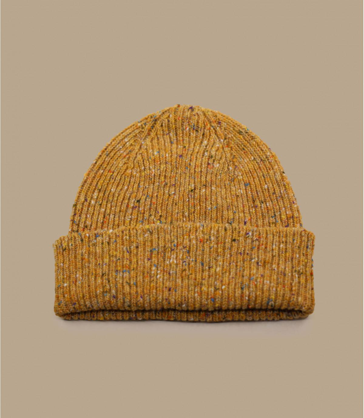 bonnet marron revers laine