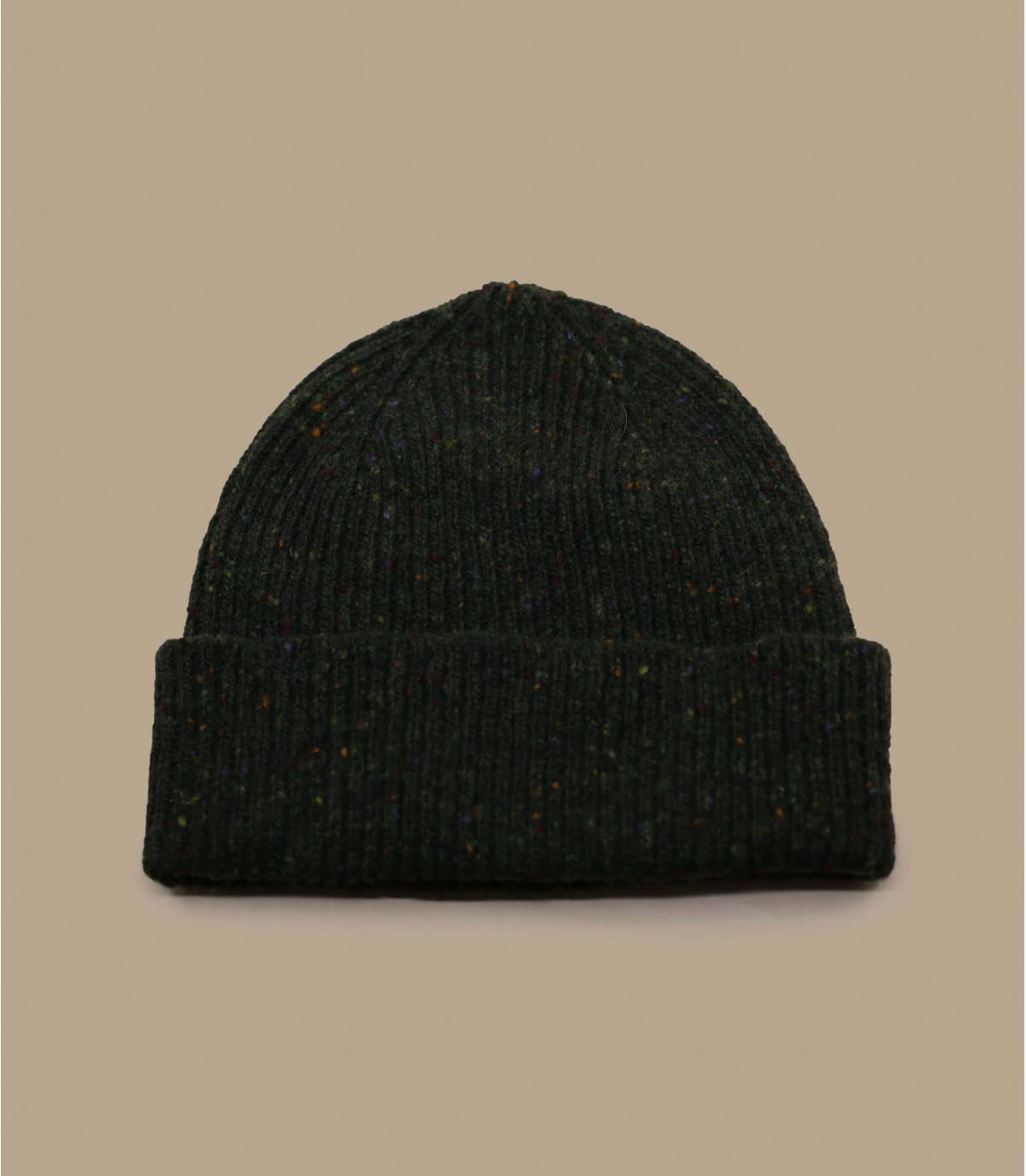bonnet revers vert laine