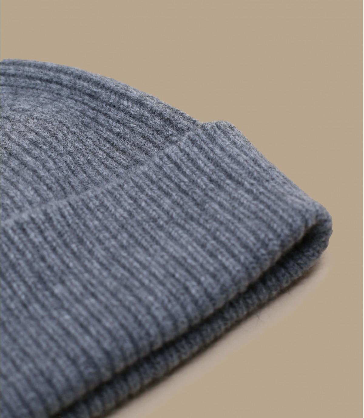 bonnet revers gris angora