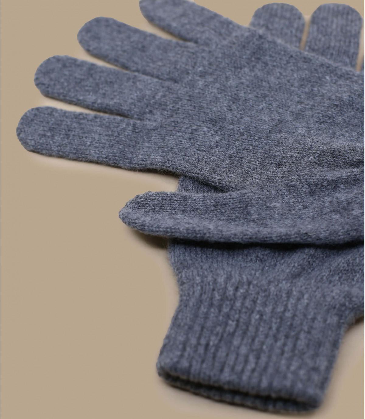 gants gris chiné laine