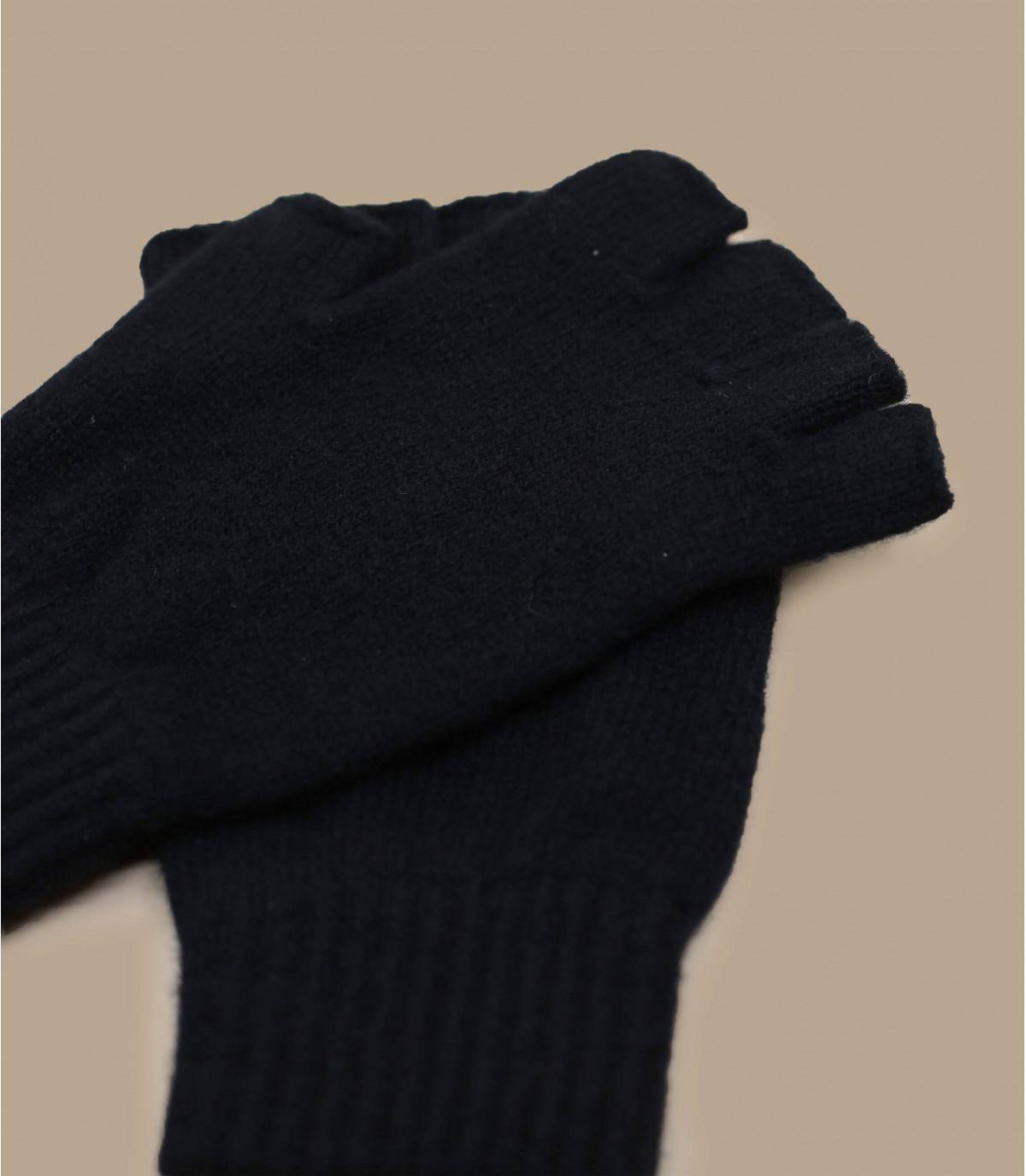 mitaines noir laine