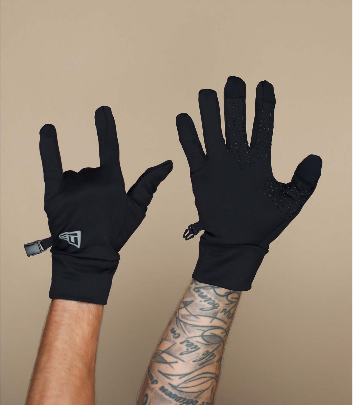gants noir smart touch