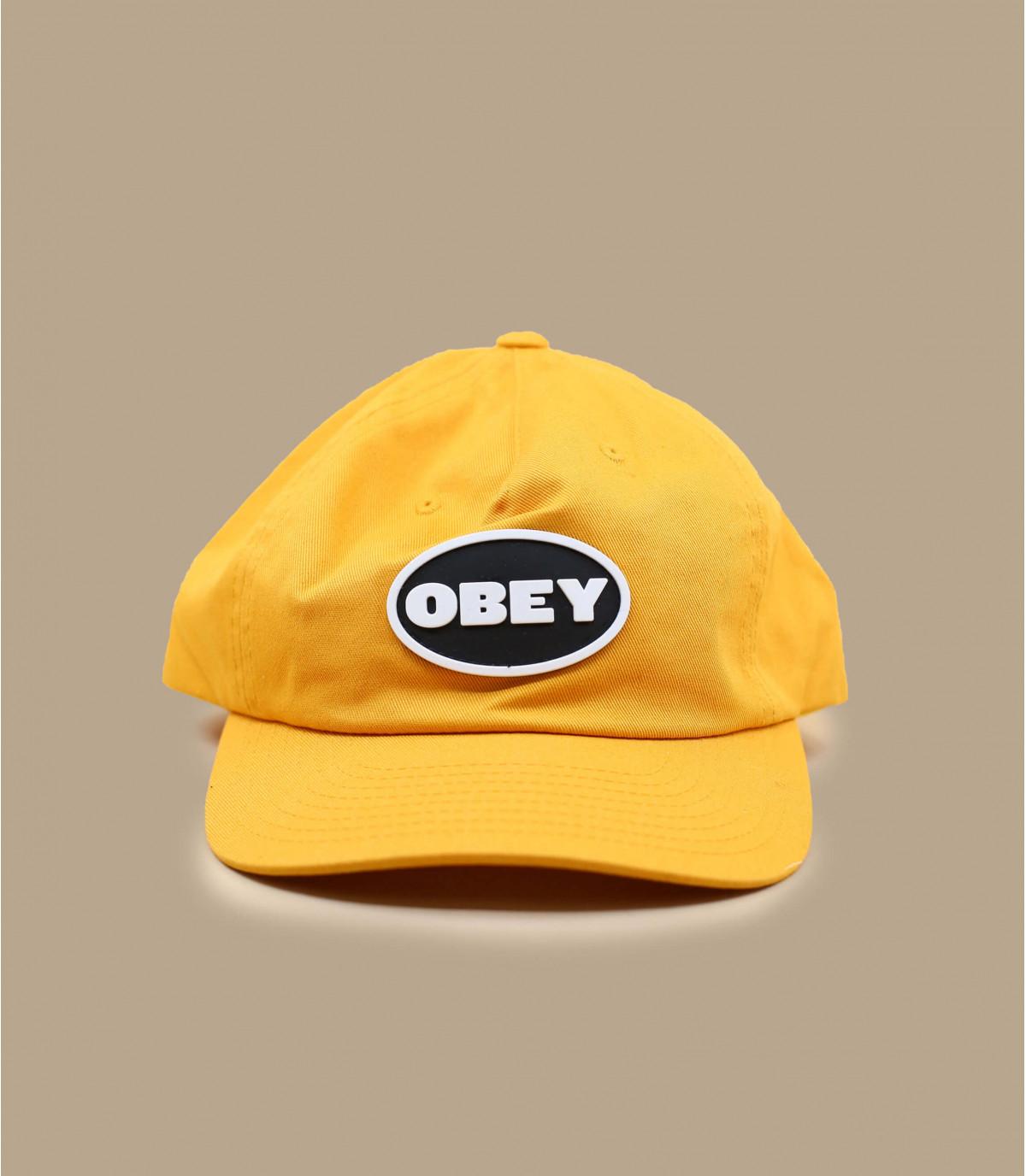 casquette 5 panel Obey jaune