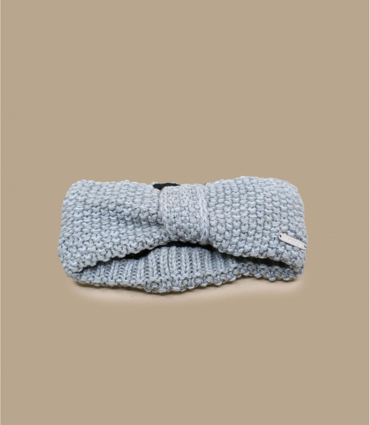 bandeau tricot gris