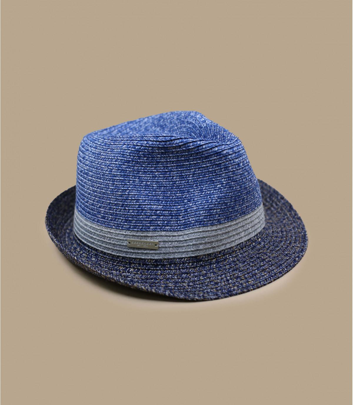 trilby gris bleu rayure