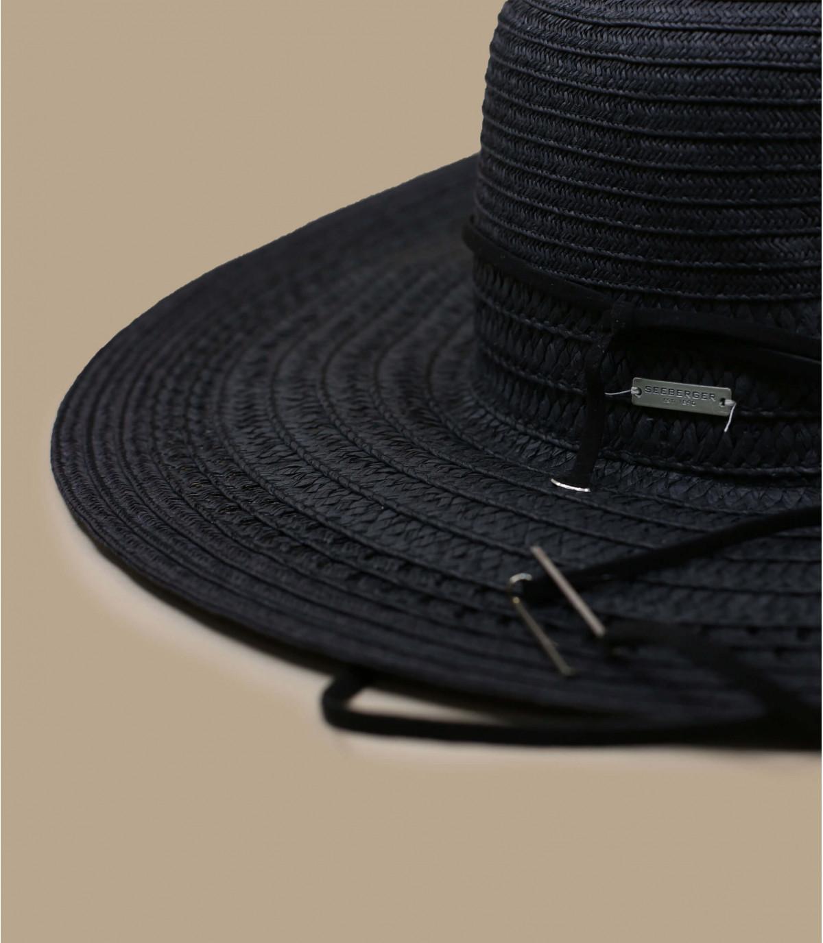 Détails Fedora leather band black - image 2