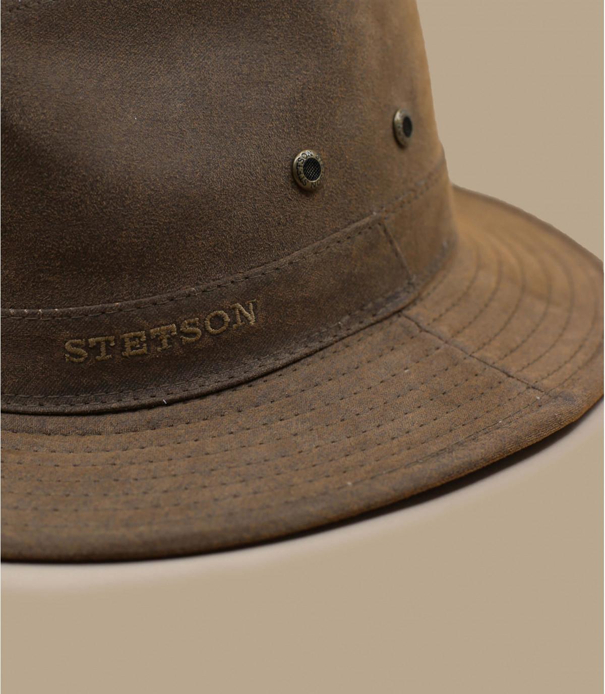 chapeau coton marron
