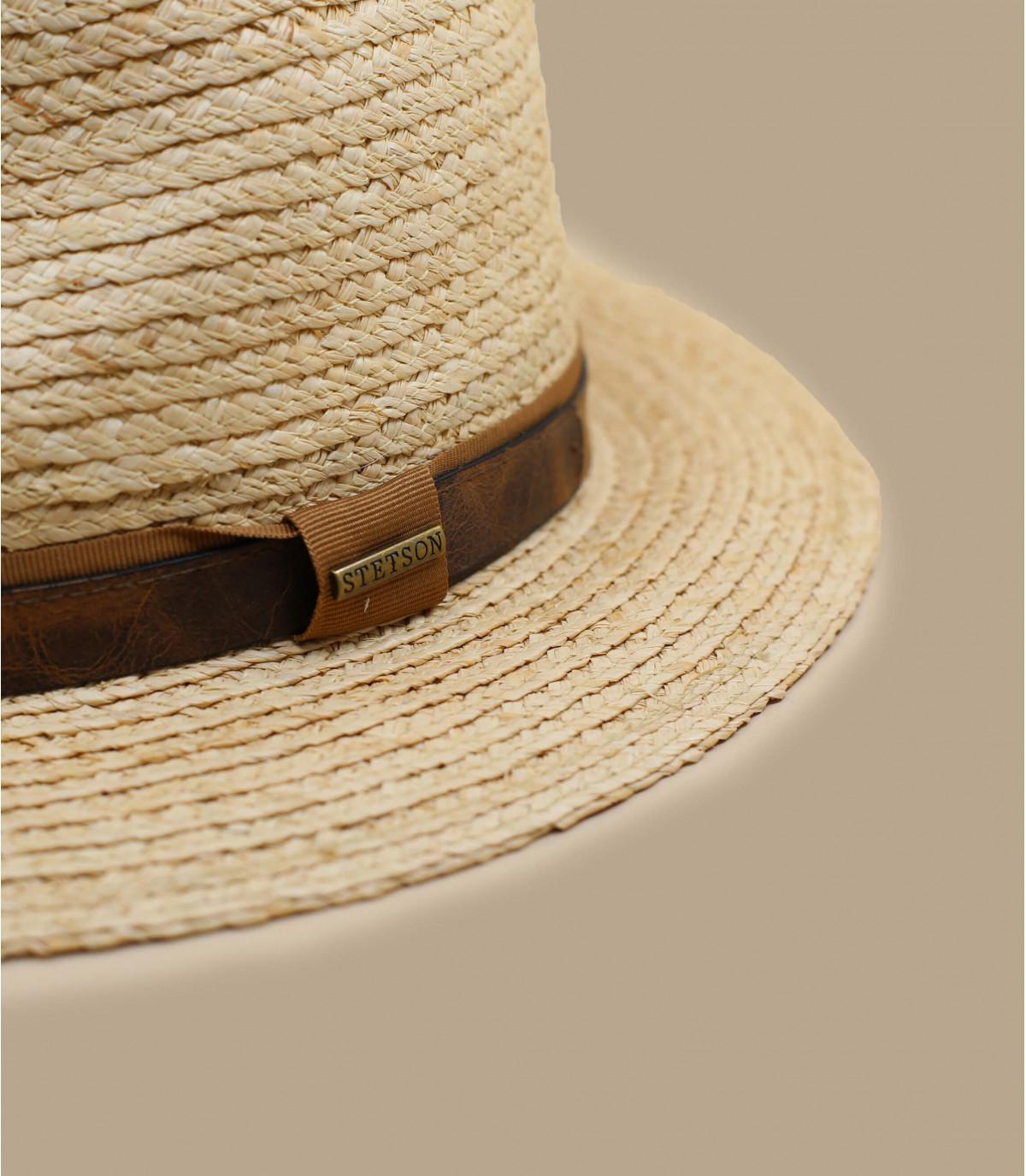 chapeau paille beige Stetson