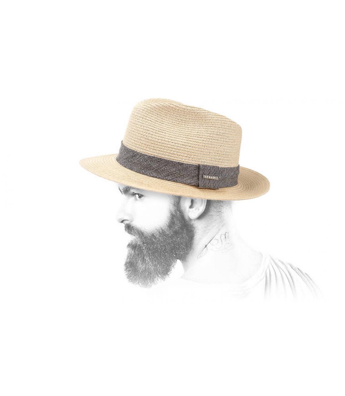 Chapeau paille homme Stetson