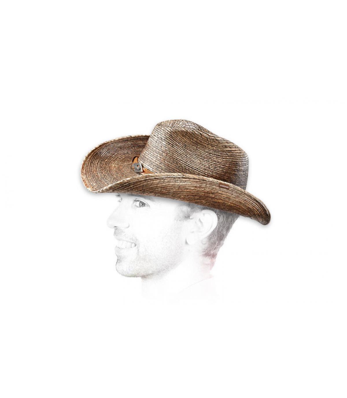 Chapeau paille cow boy homme