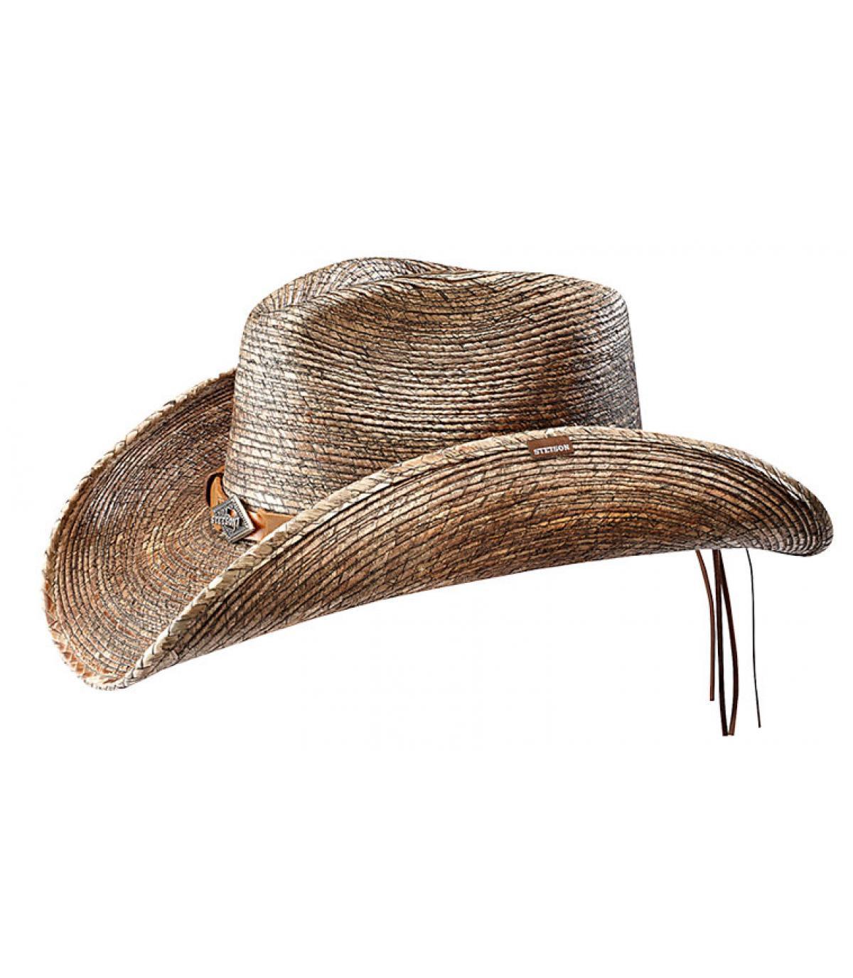 chapeau paille cow boy homme monterrey bay burned par. Black Bedroom Furniture Sets. Home Design Ideas