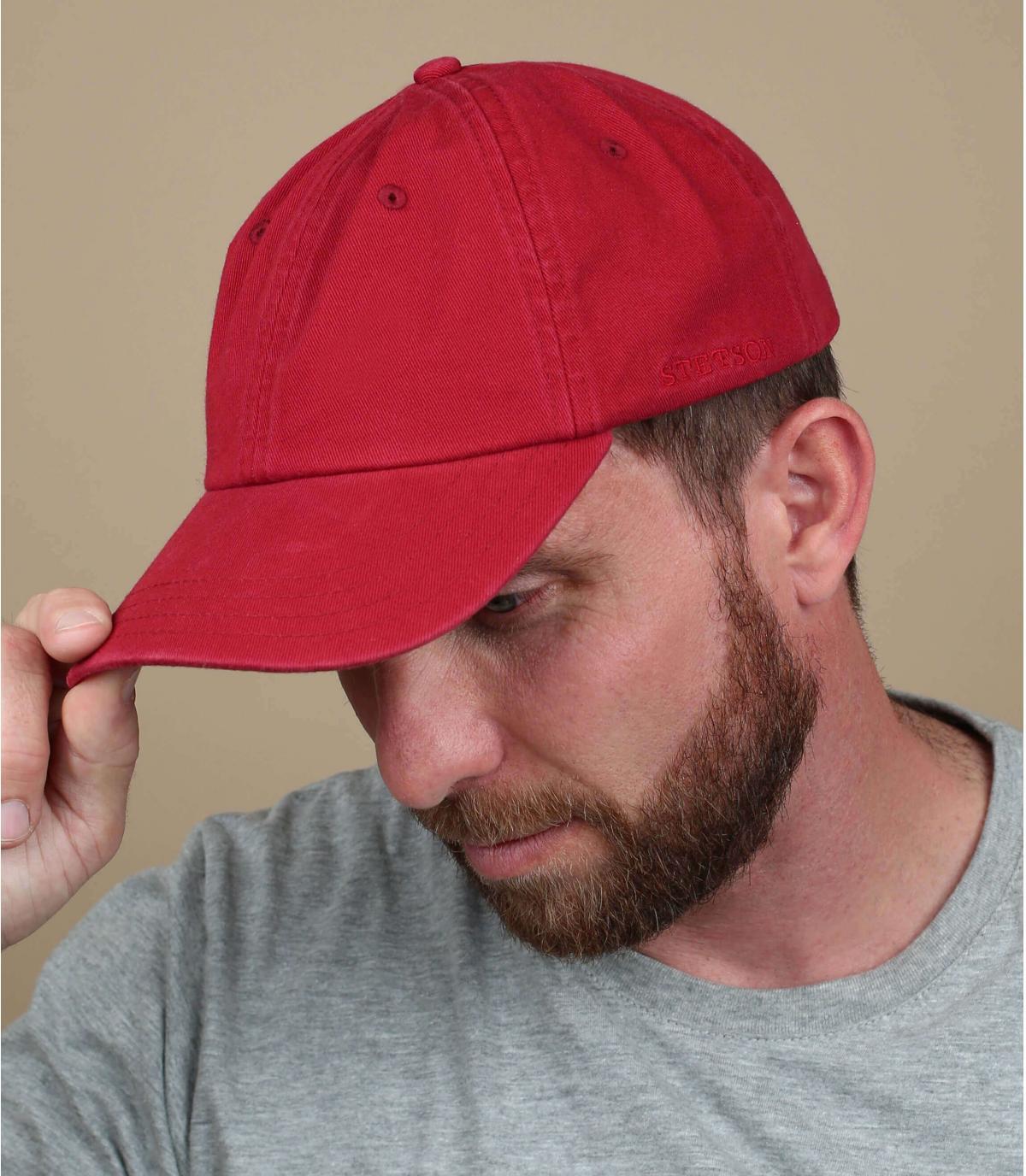 Casquette trucker Stetson rouge
