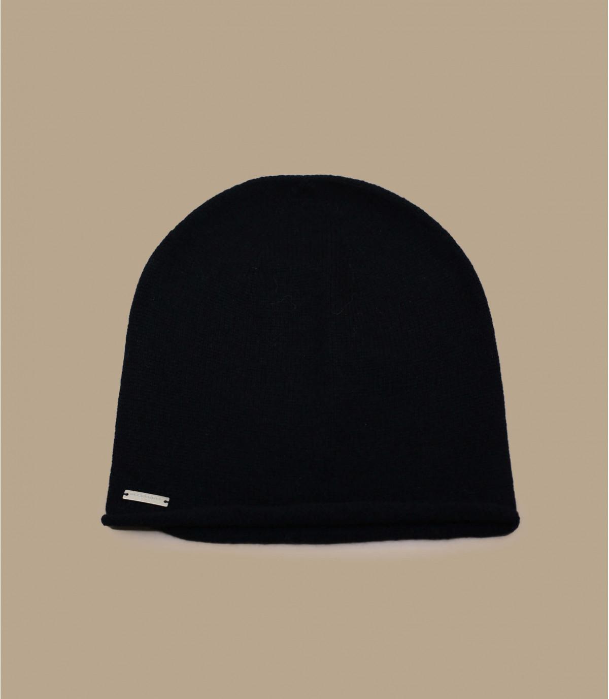 Détails Bonnet cachemire noir - image 2