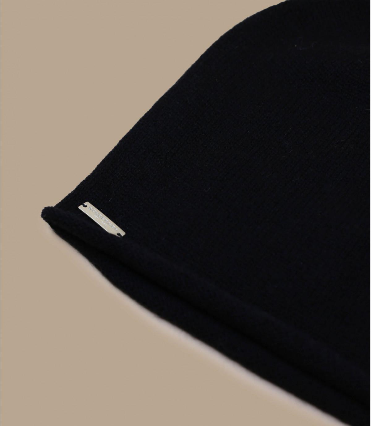 Détails Bonnet cachemire noir - image 3