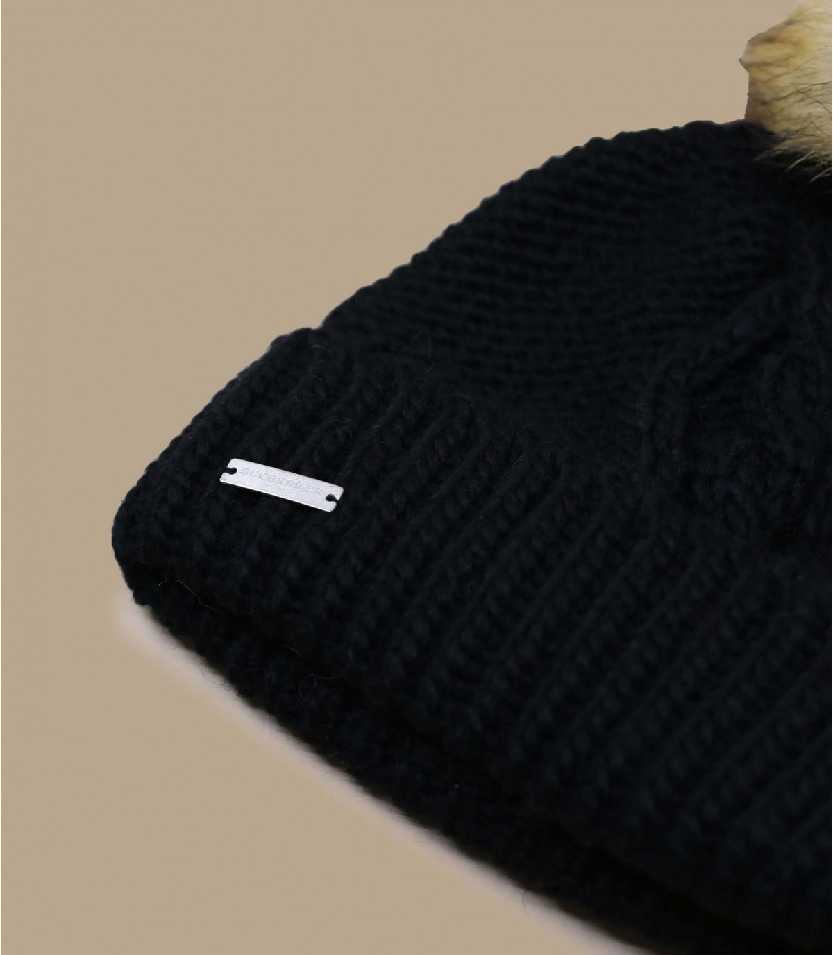 Détails Bonnet Pompon Mia noir - image 3