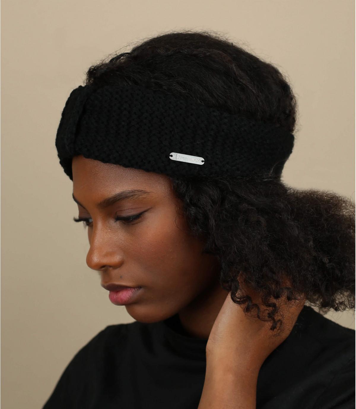 bandeau tricot noir