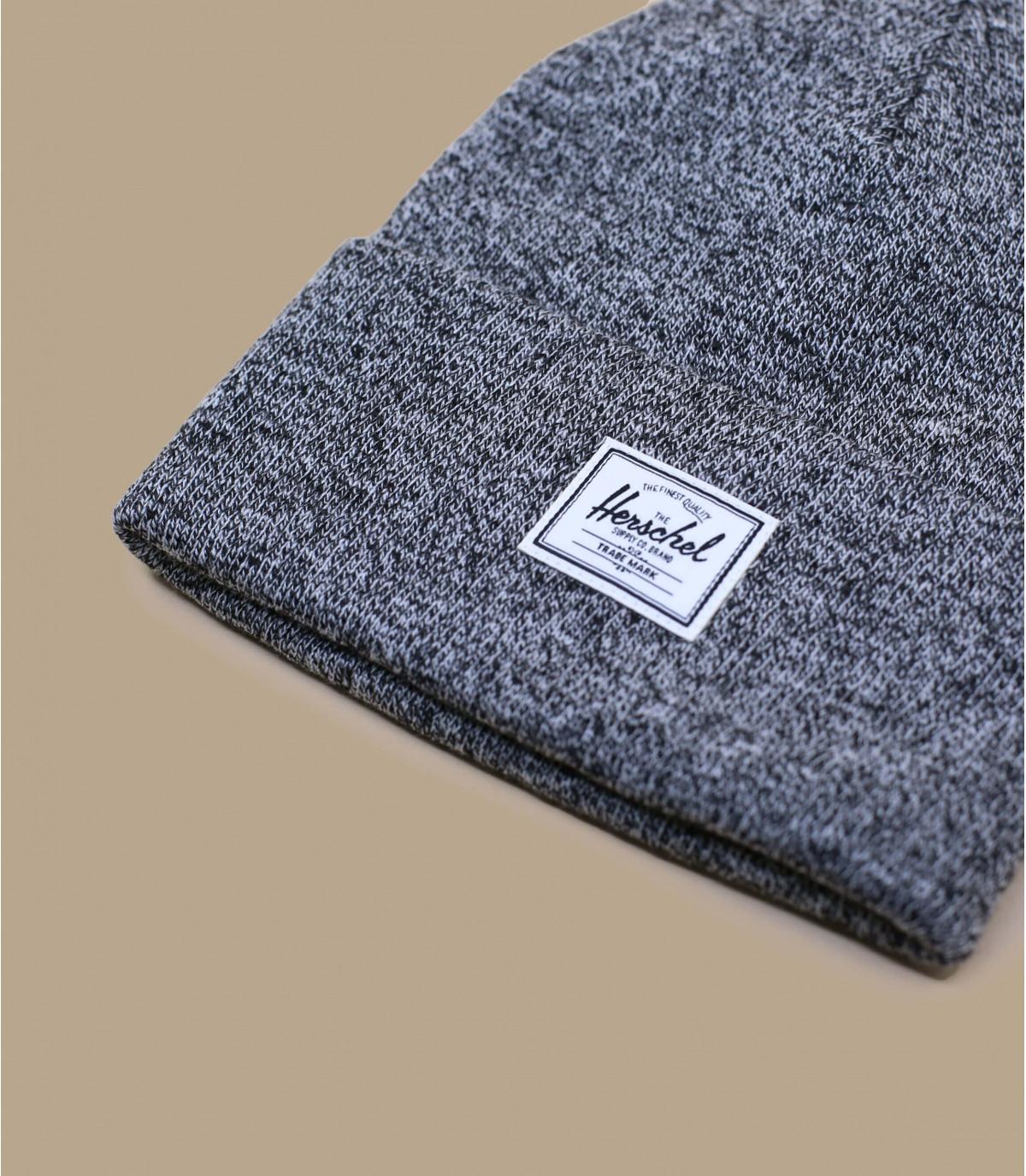 bonnet Herschel noir chiné
