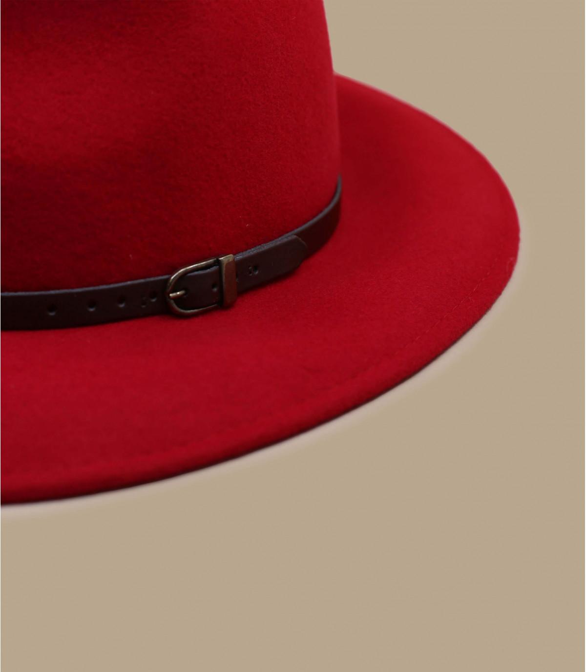 fédora rouge laine