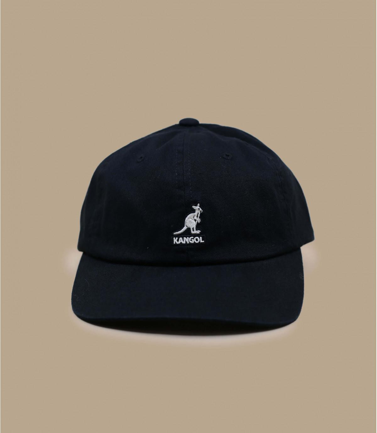 casquette baseball coton noir Kangol