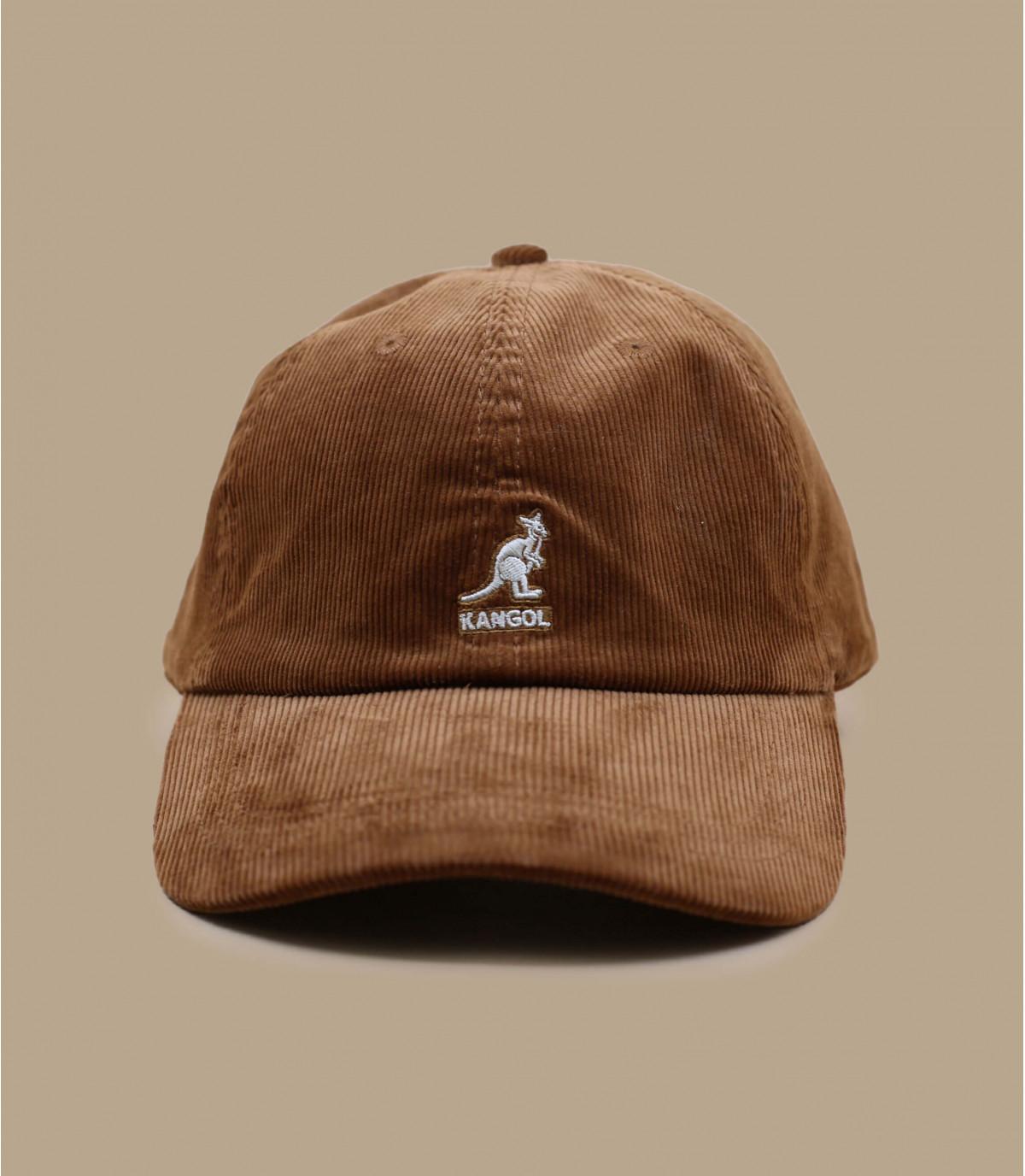 casquette velours brun Kangol