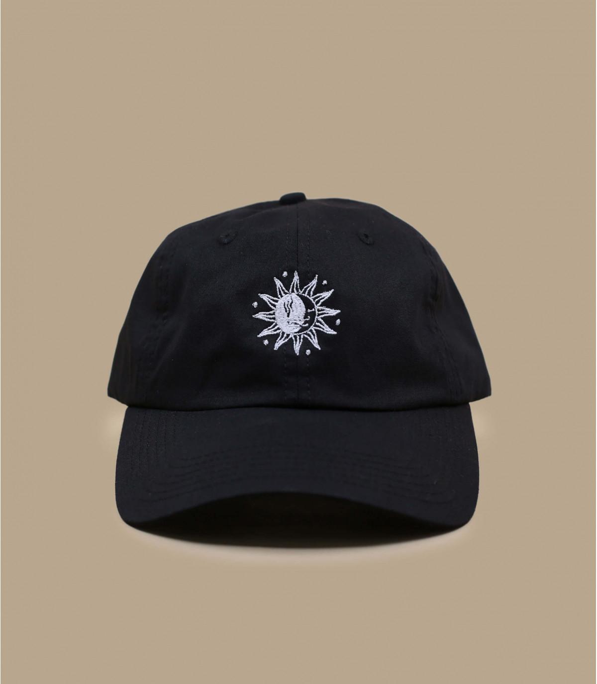 casquette curve soleil lune noire