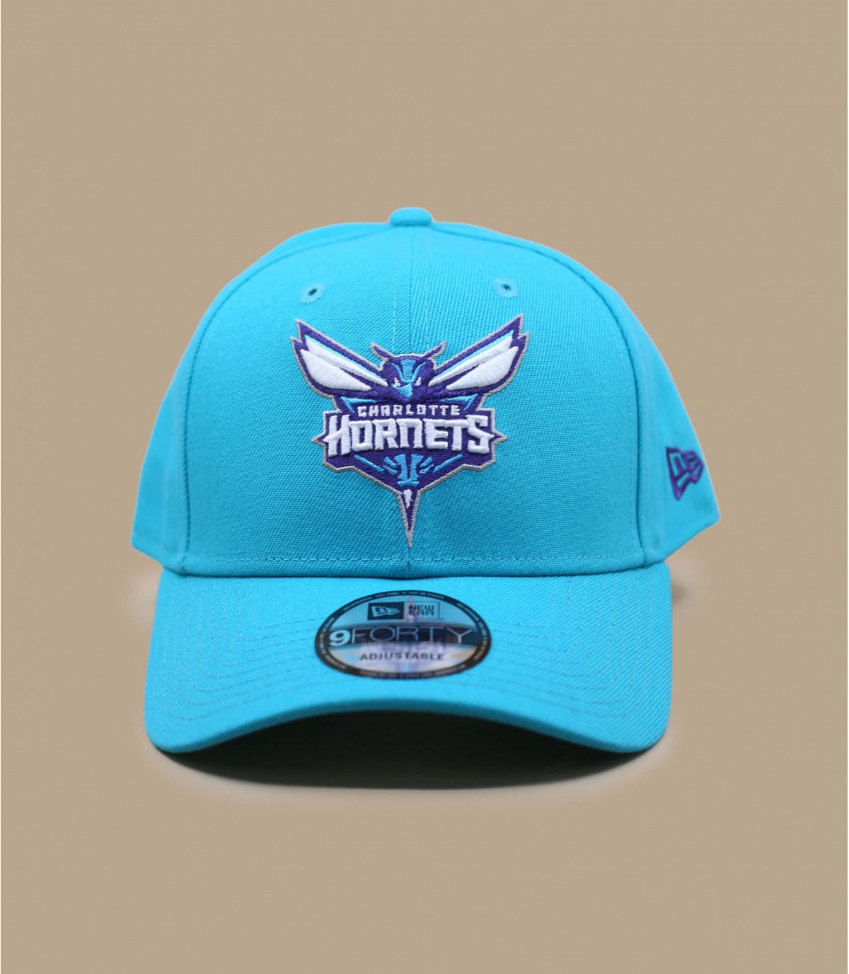 casquette curve Hornets bleu