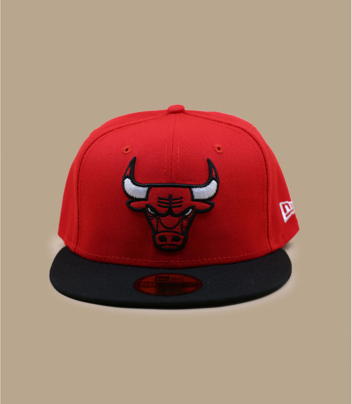 0f9f0017034b ... Détails Casquette Chicago Bulls 59fifty rouge - image ...