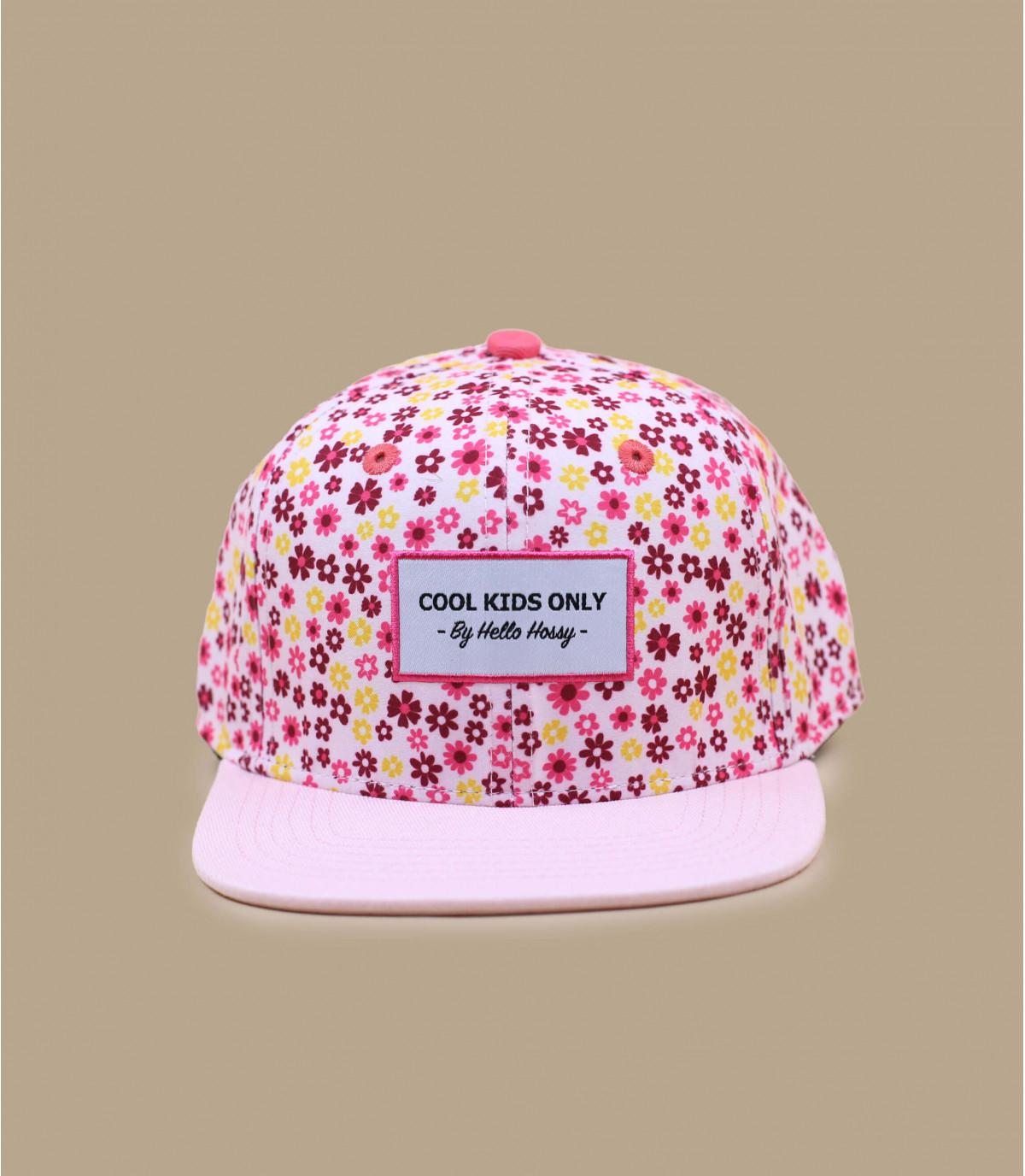 casquette fleurs enfant