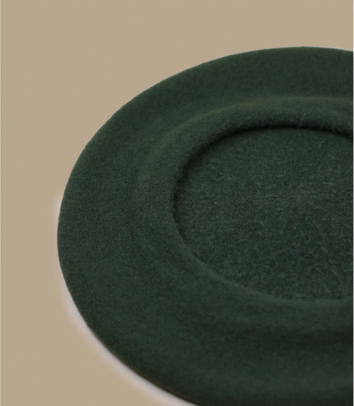 béret basque laine vert-kaki