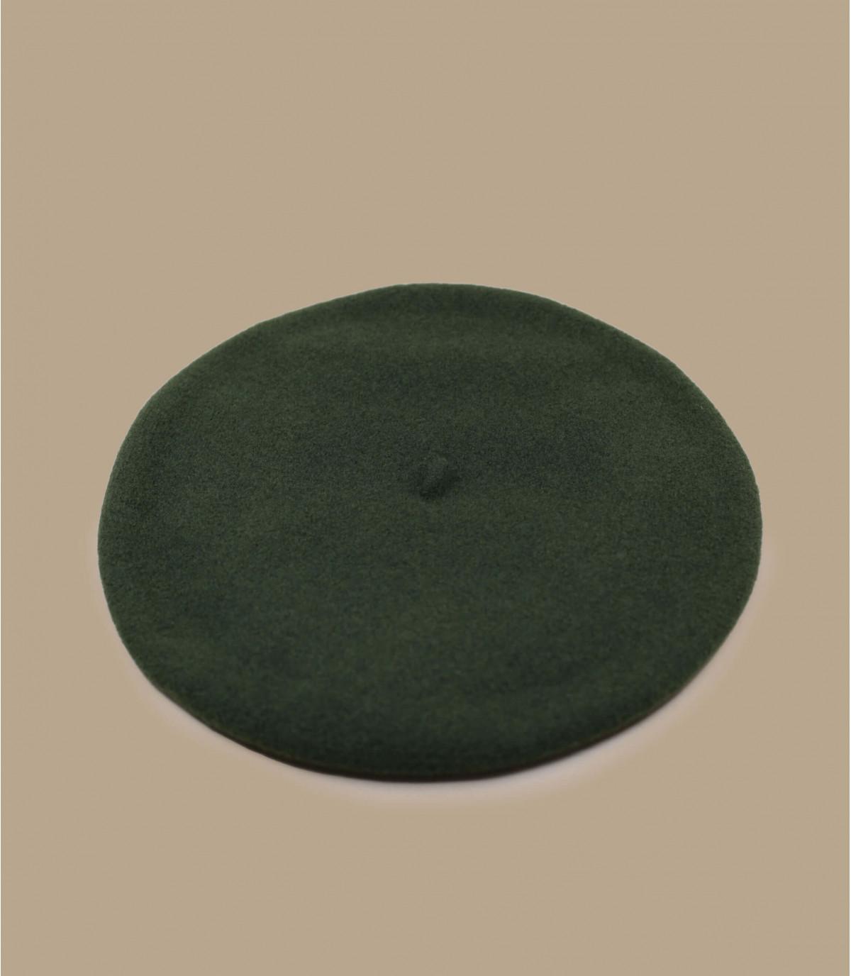 béret basque laine doublé vert