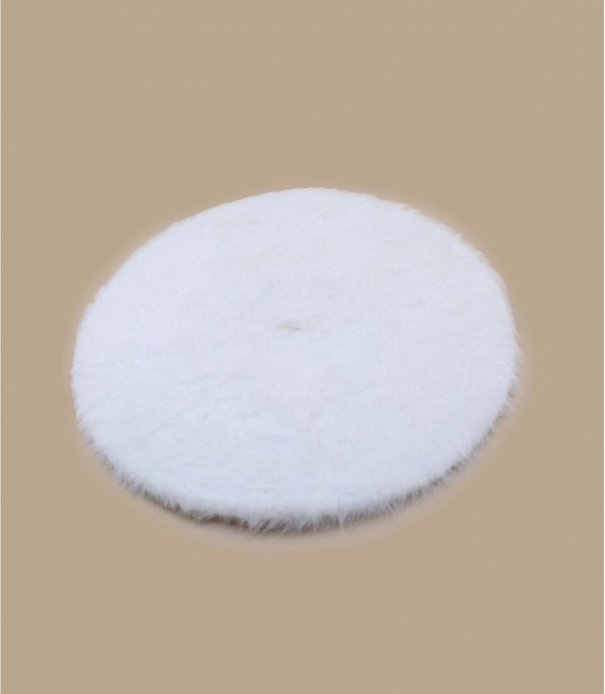 béret angora blanc Laulhère