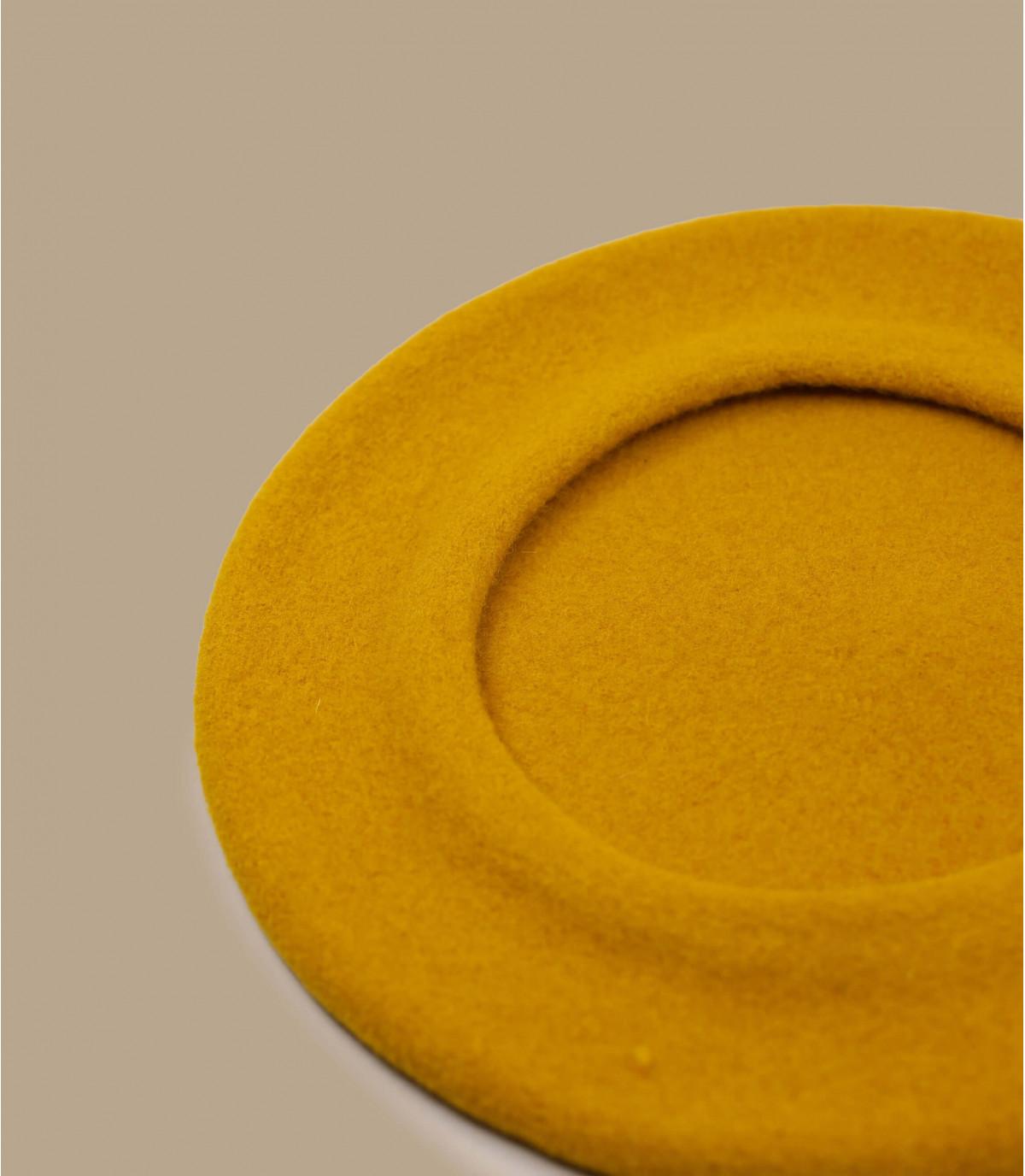 béret moutarde laine