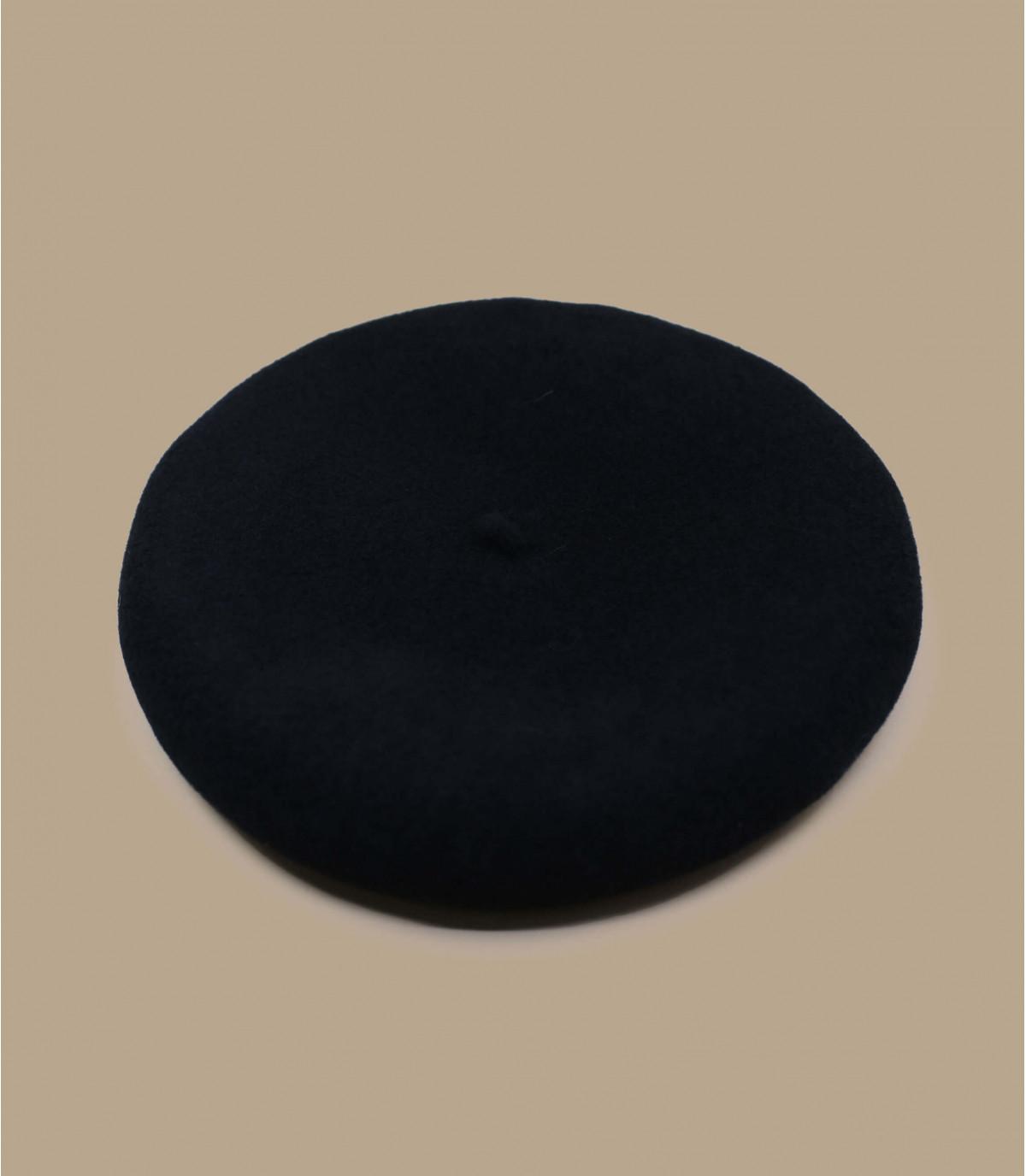 béret noir cachemire