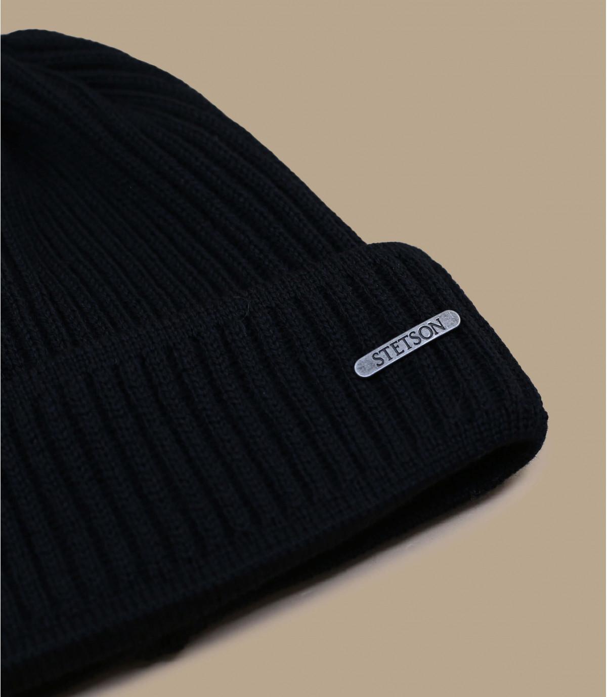 Détails beanie Merino Wool black - image 2
