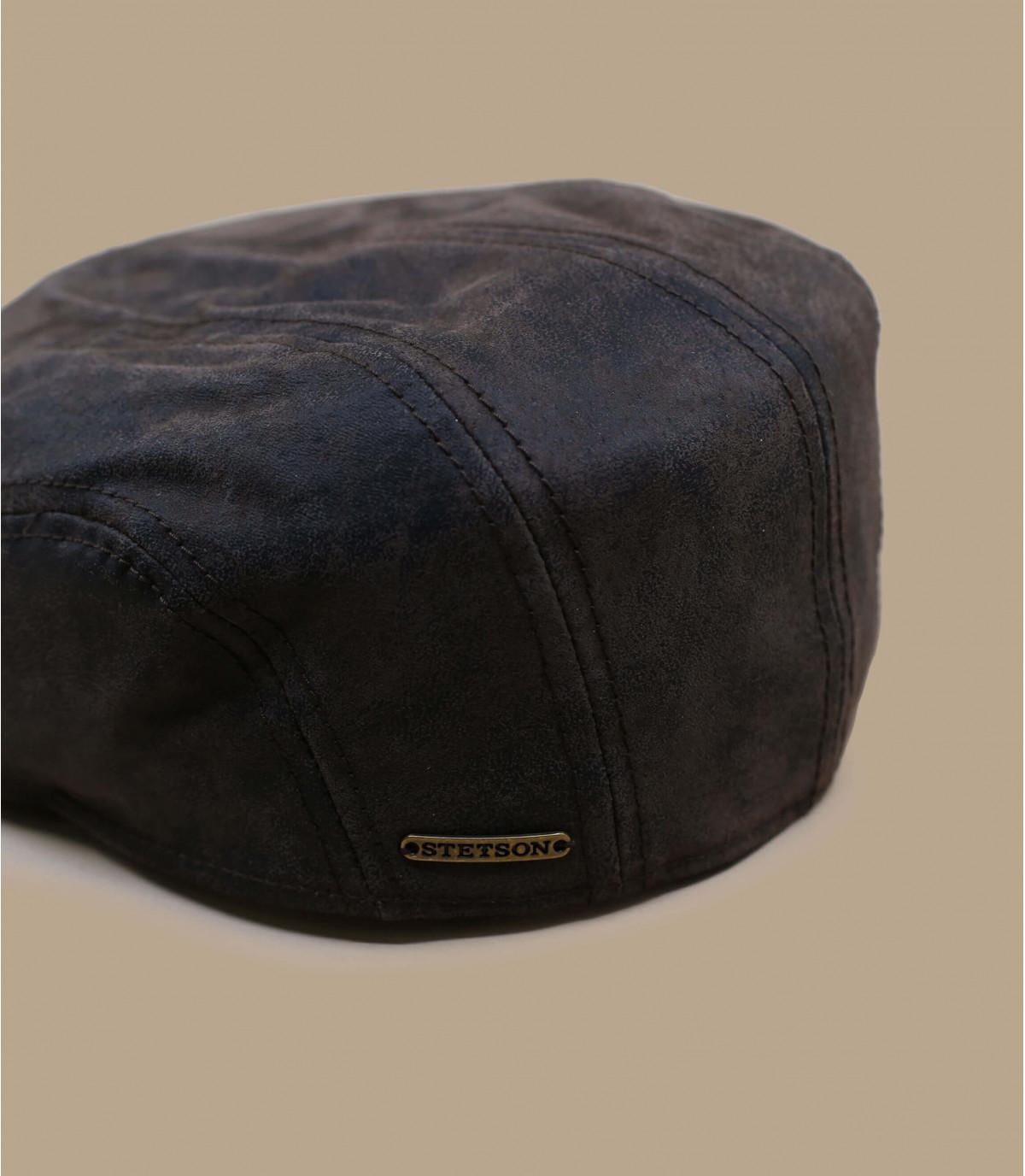 Casquette plate Stetson cuir