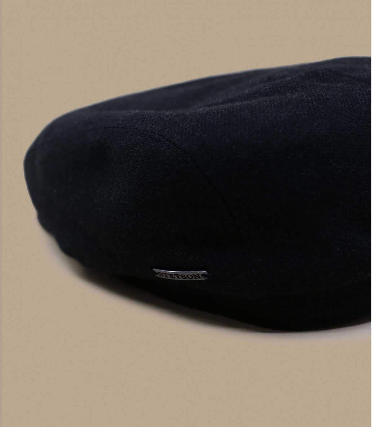 casquette plate laine cachemire