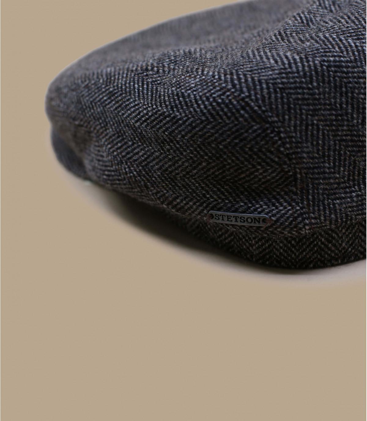 Casquette plate Stetson grise