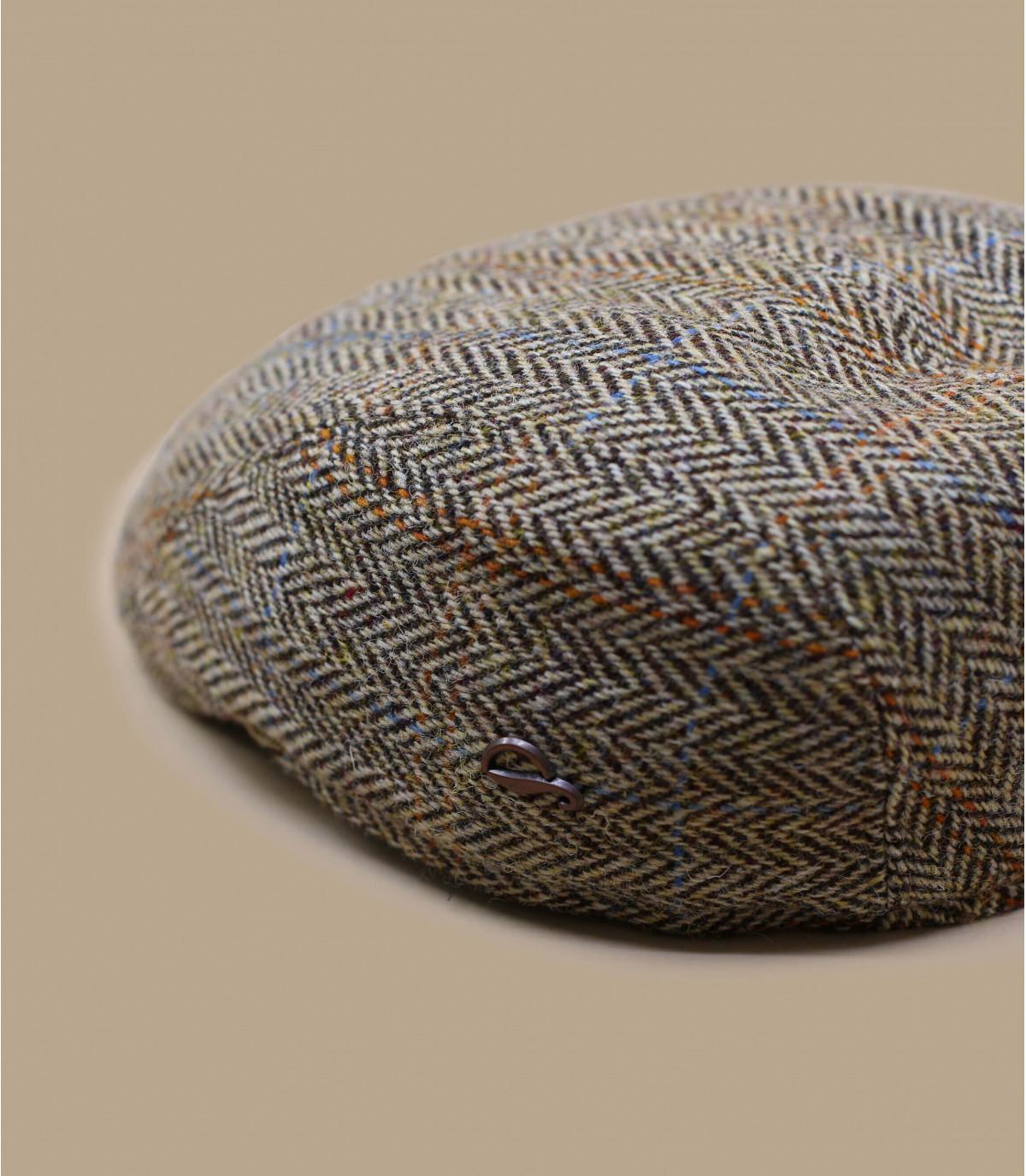béret beige chevrons laine