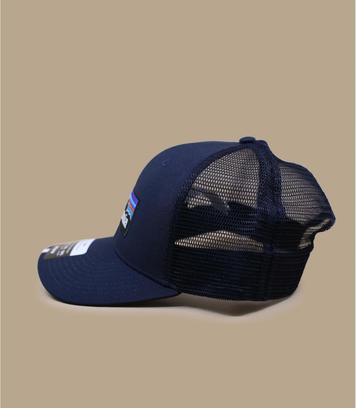 Casquette visière courbée bleue