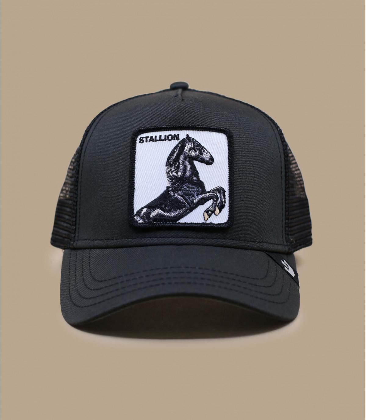 trucker cheval noir