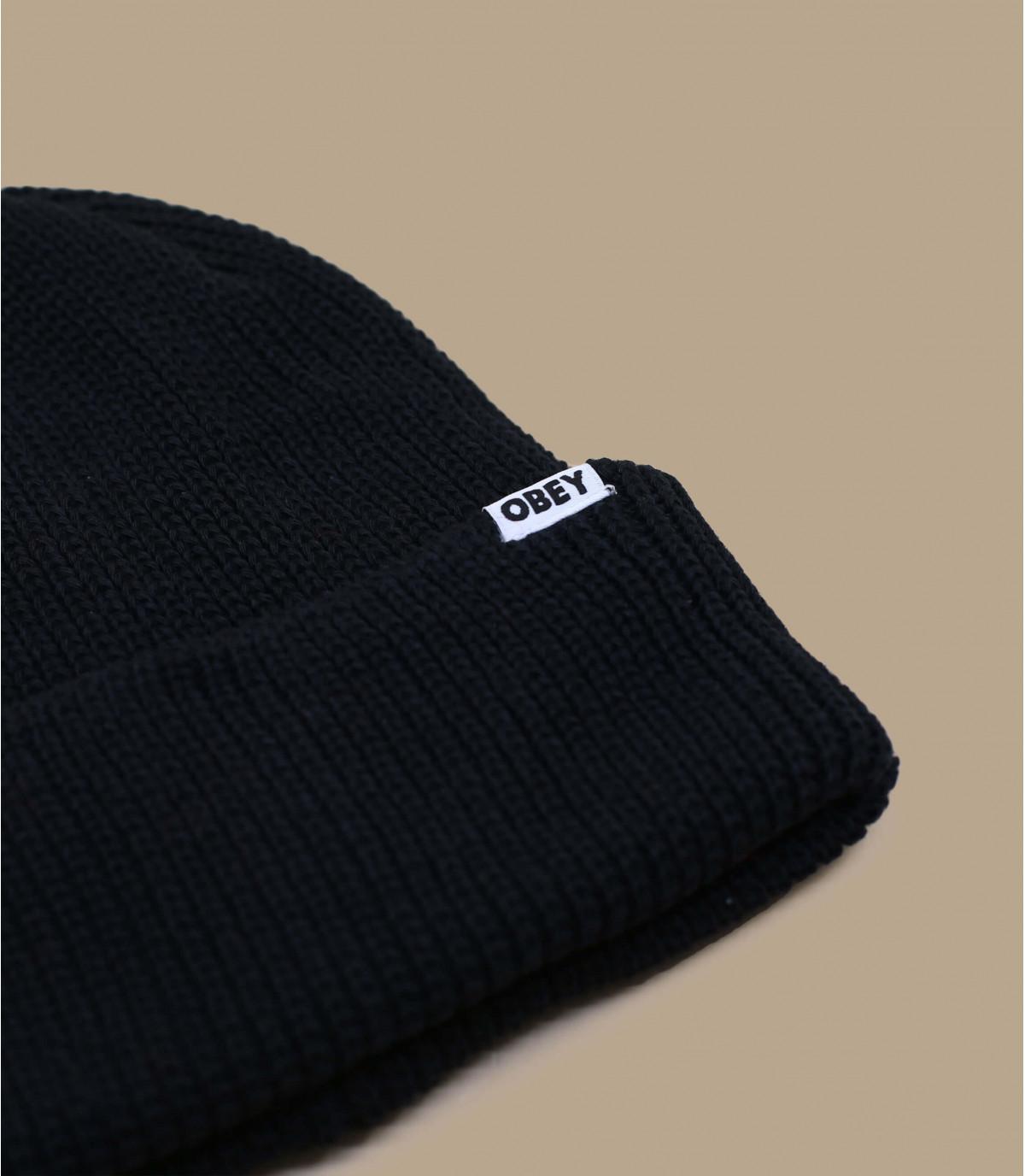 bonnet noir bio Obey