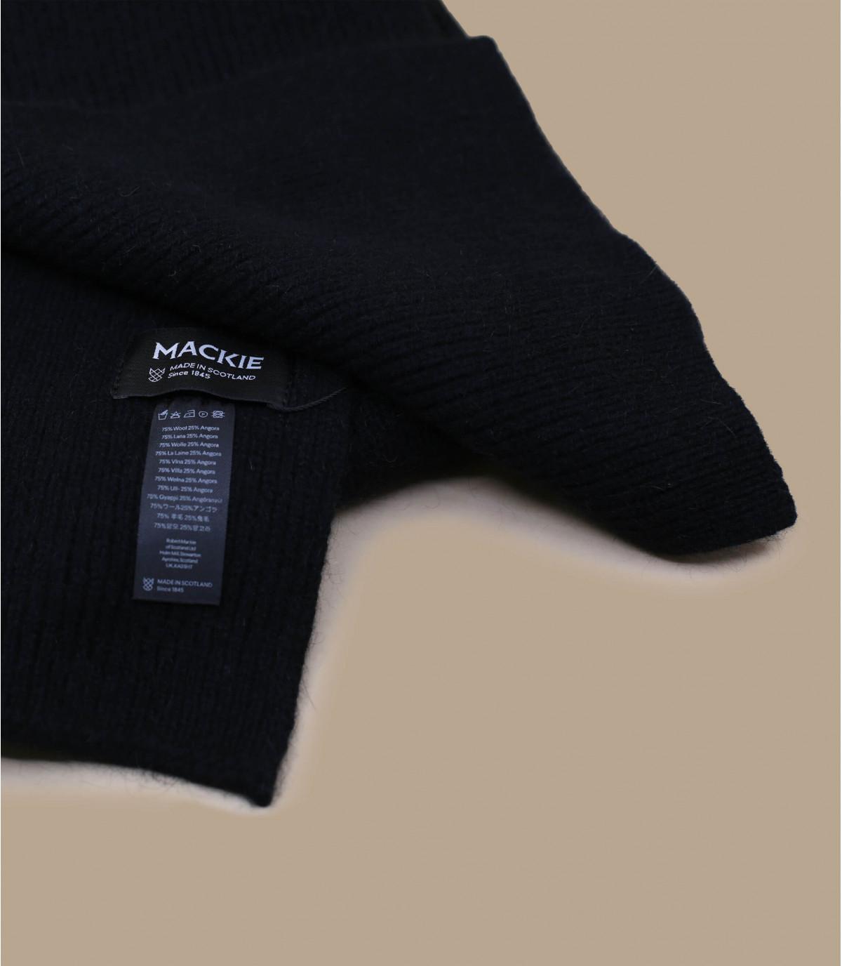 écharpe noir laine agneau angora