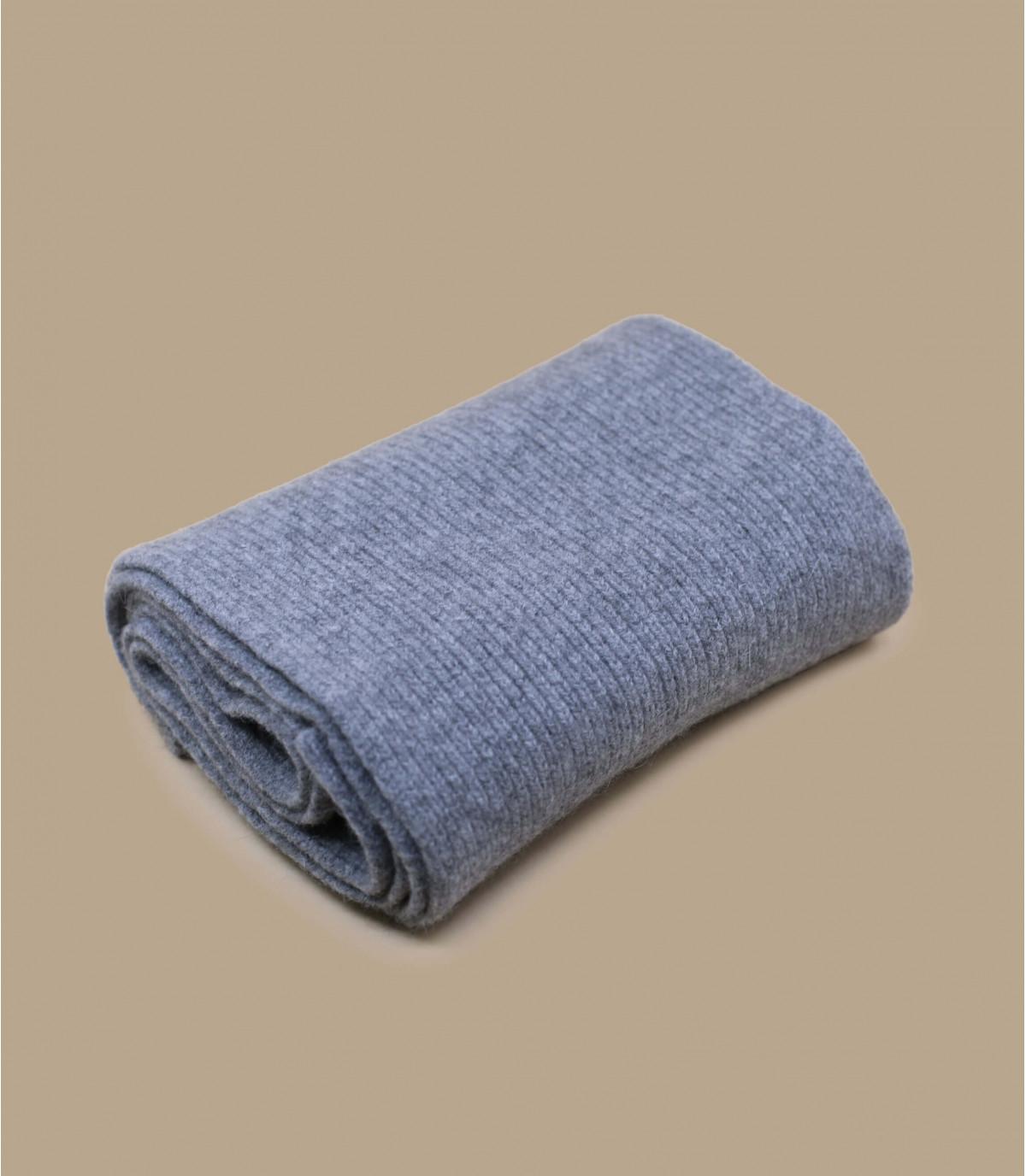 écharpe gris laine angora