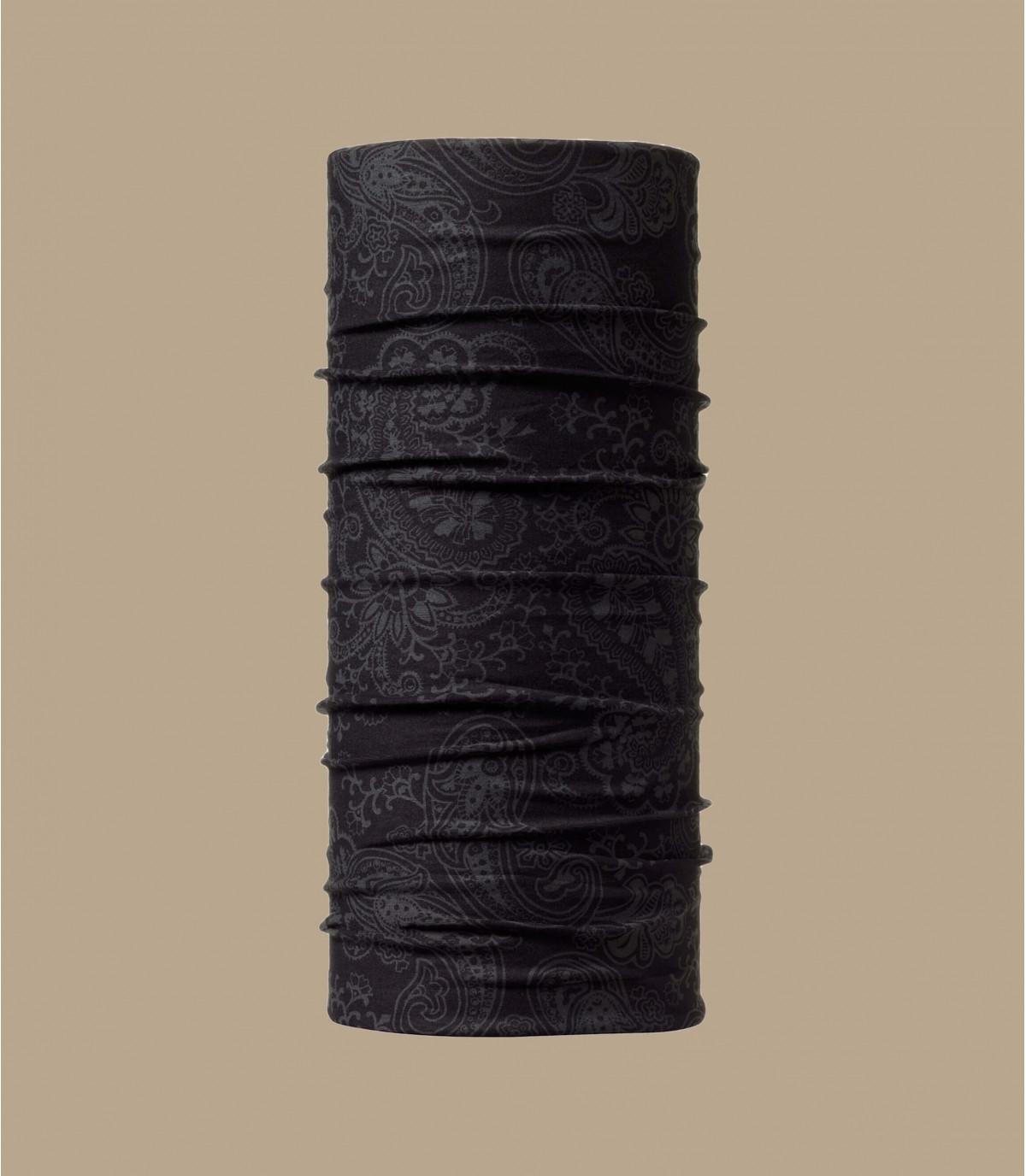 tour de cou Buff noir motif
