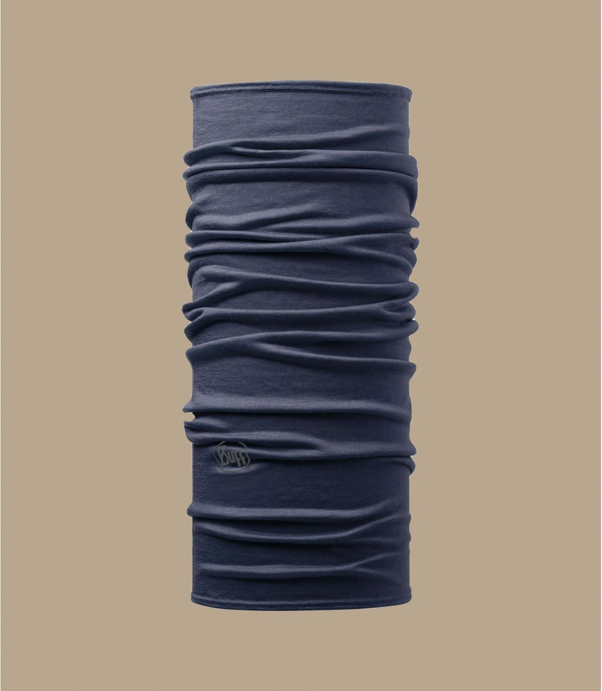 tour de cou mérinos bleu denim