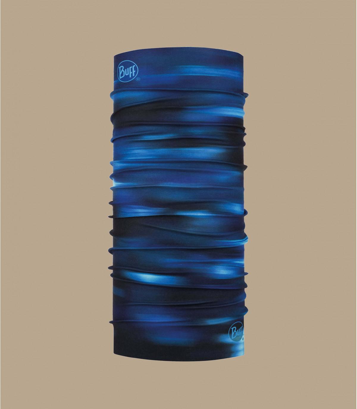Buff imprimé bleu noir